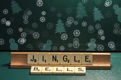 Wishes made from a word game: Jingle Bells Royalty Free Stock Images
