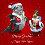 Wishes merry Christmas unusual Santa vector illustration