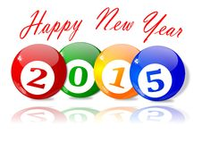 Wishes for the New Year 2015. Illustration Stock Photo