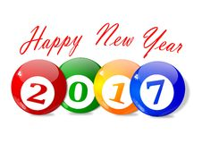 Wishes for the New Year 2017 Royalty Free Stock Photos