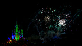 Wishes nighttime spectacular fireworks Stock Photo