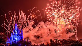 Wishes nighttime spectacular fireworks Stock Photography