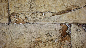 Wishes and prayers in Western wall cracks, Jerusalem, Israel Stock Images