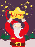 Wishes from Santa Claus Stock Photography