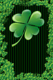 Wishes on St. Patricks Day. With clover leafs and place for your text Royalty Free Stock Photos