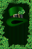 Wishes on St. Patricks Day. With green hat and place for text Stock Image