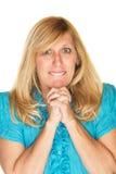 Wishful Woman Praying Stock Images