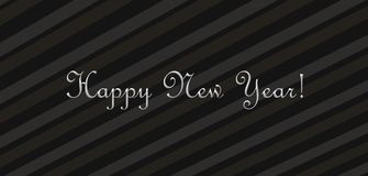 Wishing a happy new year Stock Image