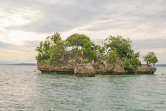 Wishing Island is one of magnificent tourist destinations in Island Garden City of Samal. Davao del Norte, Philippines - Wishing Island is part of Kaputian royalty free stock image