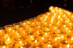 Wishing lights at night Royalty Free Stock Image