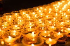 Wishing lights at night Stock Photo