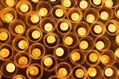 Wishing lights at night Stock Image