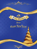 Wishing a Merry Christmas and Happy New Year Royalty Free Stock Photo