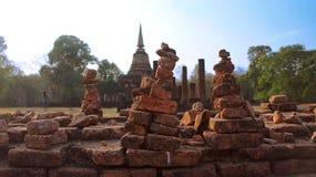 Wishing Rock of Ayutthaya ruins Royalty Free Stock Photo