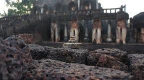 Wishing Rock of Sukhothai ruins Stock Image