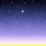 wishing star night starry sky  Royalty Free Stock Images