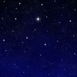 Wishing star starry night sky  Royalty Free Stock Photo