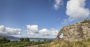 Wishing stone at Clach Na Criche in Ardnamurchan in Scotland. Royalty Free Stock Photography