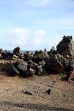 Wishing stones rocks stacked up Royalty Free Stock Photo
