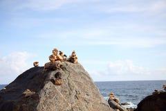 Wishing stones rocks stacked up Stock Photography