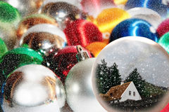 Wishing to be at home for christmas Royalty Free Stock Images