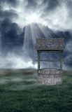 Wishing Well. A premade background for artists or designers to use in their projects Royalty Free Stock Photos