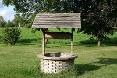 Wishing well. On a north american farm royalty free stock images