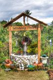 Wishing well. In the lucky garden Stock Photography