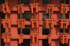 Wishing Wooden Torii at Fushimi Inari Taisha Shrine Stock Photo