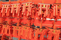 Wishing Wooden Torii Royalty Free Stock Photo