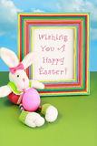 Wishing You a Happy Easter Bunny Royalty Free Stock Photos