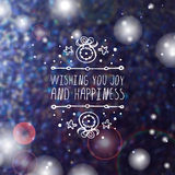 Wishing you joy and happiness - typographic Stock Image