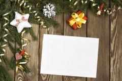Wishing you Merry Christmas . Mixed media Stock Image