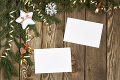 Wishing you Merry Christmas . Mixed media Royalty Free Stock Images
