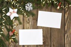 Wishing you Merry Christmas . Mixed media Royalty Free Stock Photo