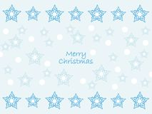 Wishing you a merry christmas! Star background. Wishing a merry christmas with sparkling and shining stars. Clean shapes and clean design Stock Images