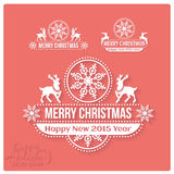 Wishing you much Joy Holiday season. Happy New Royalty Free Stock Photos