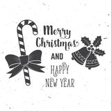 Wishing you very happy Xmas. Typography design. Stock Images