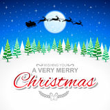 Wishing You A Very Merry Christmas. Winter Holidays Card, EPS 10 file with large jpeg file Royalty Free Stock Photo