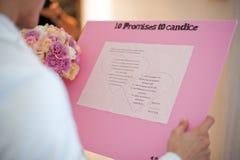 Wishlist aan de bruid Stock Foto