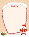 Wishlist de la Navidad Imagenes de archivo