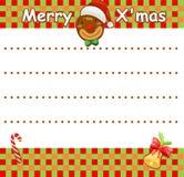 Wishlist de Noël Image libre de droits