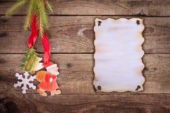Wishlist para la Navidad Fotografía de archivo libre de regalías
