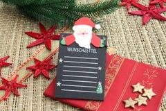 Wishlist voor Kerstmis Royalty-vrije Stock Afbeeldingen