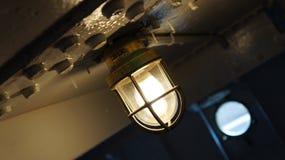 Wiska Nautyczna lampa wśrodku Koczowniczego Obraz Stock
