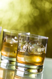 Wiskey with ice Stock Photos