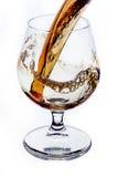 Wiskey krus med den lyxiga drinken Arkivbilder