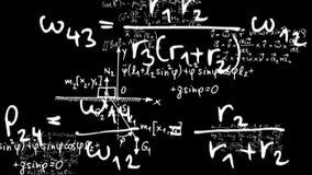 Wiskunde 3 vector illustratie