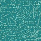 Wiskunde naadloos patroon. EPS 8 Stock Afbeeldingen