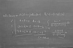 Wiskunde op bord Stock Afbeeldingen